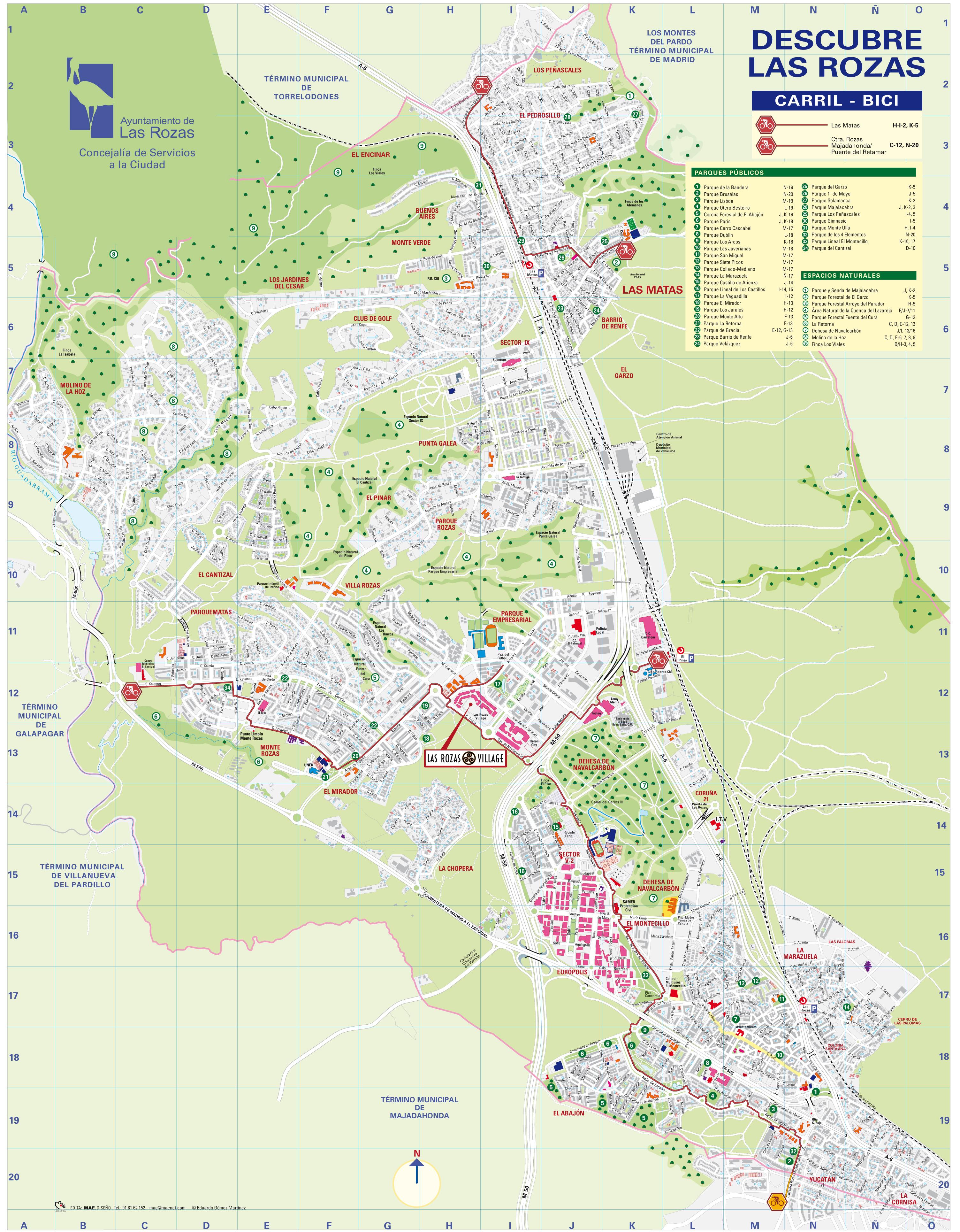Las Rozas Madrid Mapa.Las Rozas De Madrid Mapa